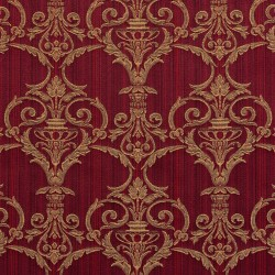 D307 Ruby Victorian Fabric by Charlotte Fabrics