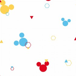 DI0930 Red/Blue/Yellow Disney Minnie Mouse Dots Wallpaper