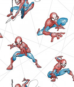 DI0939 Red/Blue/Gray Spider-Man Fracture Wallpaper