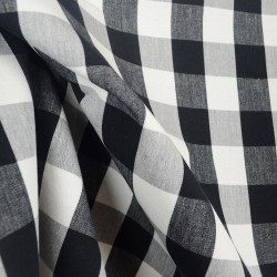 Lyme Black White Check Fabric