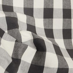 Lyme Charcoal Check Plaid Fabric