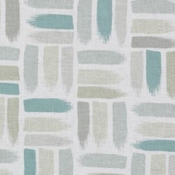 DP61714 693 Natural/Aqua Duralee Fabric