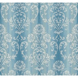 EE1368 Blue Charlotte Delicate Damask Wallpaper