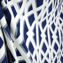 Elton Navy Blue Trellis Kaufman Fabric
