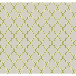 ER8198 Pearl Grey Lime Green Waverly Buzzing Around Trellis Wallpaper