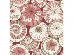 FD24359 Red Mikado Parasol A Street Prints Brewster Wallpaper