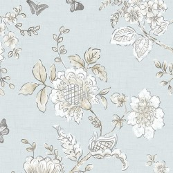FH37537 Butterfly Toile Wallpaper