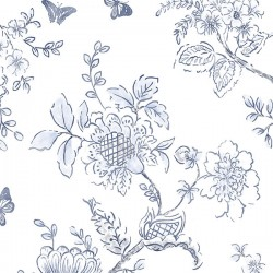 FH37539 Butterfly Toile Wallpaper
