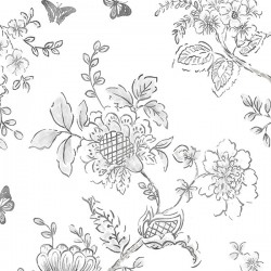 FH37540 Butterfly Toile Wallpaper