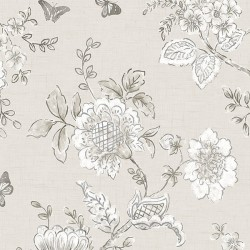 FH37541 Butterfly Toile Wallpaper