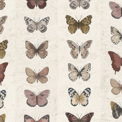 G67992 Jewel Butterflies Stripe Wallpaper