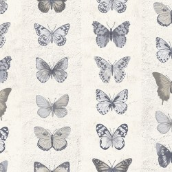 G67993 Jewel Butterflies Stripe Wallpaper