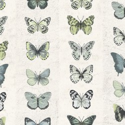 G67994 Jewel Butterflies Stripe Wallpaper