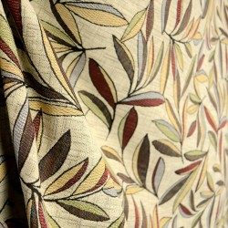 Garfield Redstone Tropical Leaf Floral Fabric
