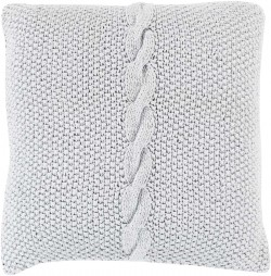 Classic Cable Knit Grey Pillow | GN001-2222D