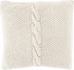 Classic Cable Knit Grey Pillow | GN004-1818P