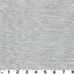Grasscloth Pewter Texture Drapery Fabric