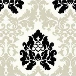 HAV40729 Off-White Haven Damask Wallpaper