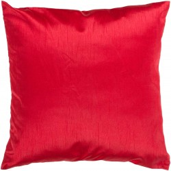 Solid Decorative Red Pillow | HH035-1818P