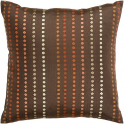 Vertical Connect the Dots Brown, Orange, Tan Pillow