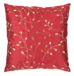 Fresh Floral Red, Yellow, Tan Pillow | HH093-1818P