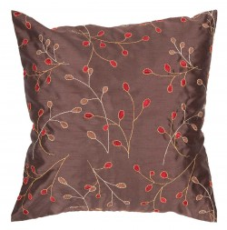 Fresh Floral Brown, Red Pillow | HH094-1818P