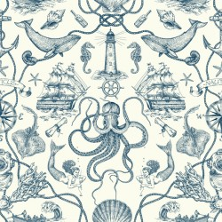 HO3361 Deep Sea Toile Wallpaper