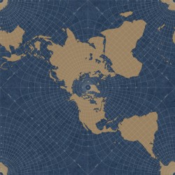 HO3368 Maritime Map Wallpaper
