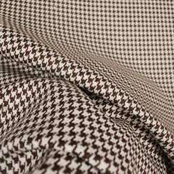 D2918 Houndstooth Chocolate Upholstery Fabric