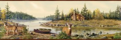 Cabin Creek Sand Portrait Wallpaper Border