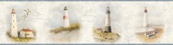 Seaman Blue Lighthouse Coast Portrait Wallpaper Border