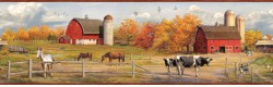 Winslow Red American Farmer Portrait Wallpaper Border