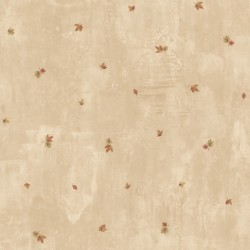 Sonny Taupe Maple Toss Wallpaper