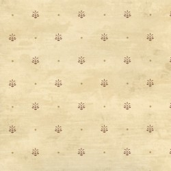 Polka Taupe Pinecone Ditzy Toss Wallpaper
