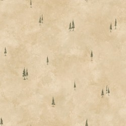 Pinnacle Taupe Tall Tree Toss Wallpaper