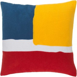 Harvey Pillow with Poly Fill in Poppy, Sunflower, and Cobalt | HV002-1818P