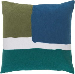 Harvey Pillow with Poly Fill in Forest, Teal, and Cobalt | HV003-1818P
