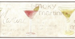 5510863 Dry Martini Novelty Bar Wallpaper Border