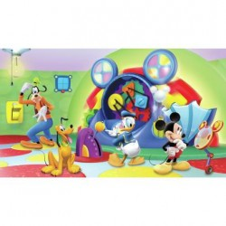 Murals Disney Mickey & Friends Clubhouse Capers Pre-Pasted Mural
