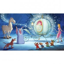 Murals Disney Cinderella Carriage Ride Pre-Pasted Mural