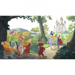 JL1377M Disney Snow White Happily Ever After Pre-Pasted Mural
