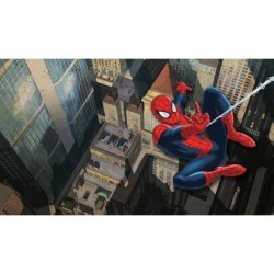 Murals Ultimate Spider-Man City Scape Pre-Pasted Mural