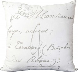 Classical French Script Tan, Grey Pillow | LG512-1818P