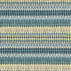 Linear Aura Denim Kasmir Fabric