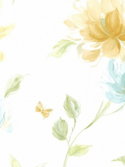 LS70107 Floral Insects Wallpaper