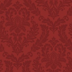 LW5895 Tone on Tone Red Damask Wallpaper