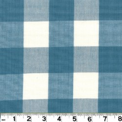 Lyme Sky Check Plaid Fabric