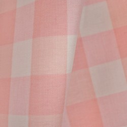 Lyme Pale Pink Check Fabric