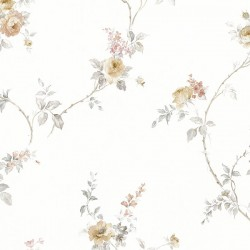 MD29400 In-Register White Wedding Trail Wallpaper