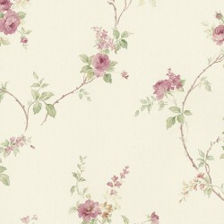MD29401 In-Register White Wedding Trail Wallpaper